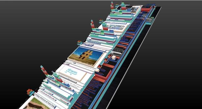 curiosa vista de mi blog en 3D